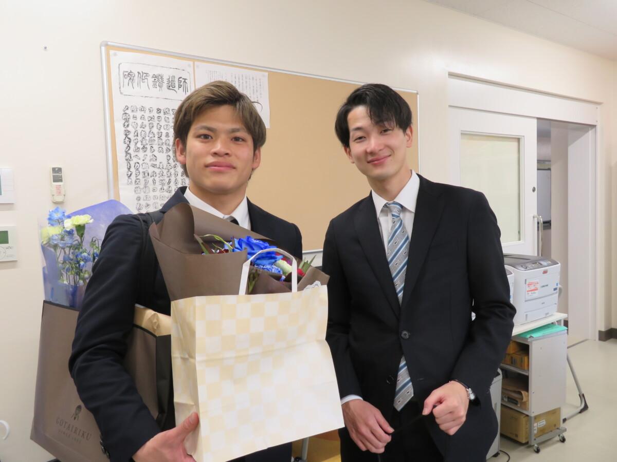 卒業おめでとう。